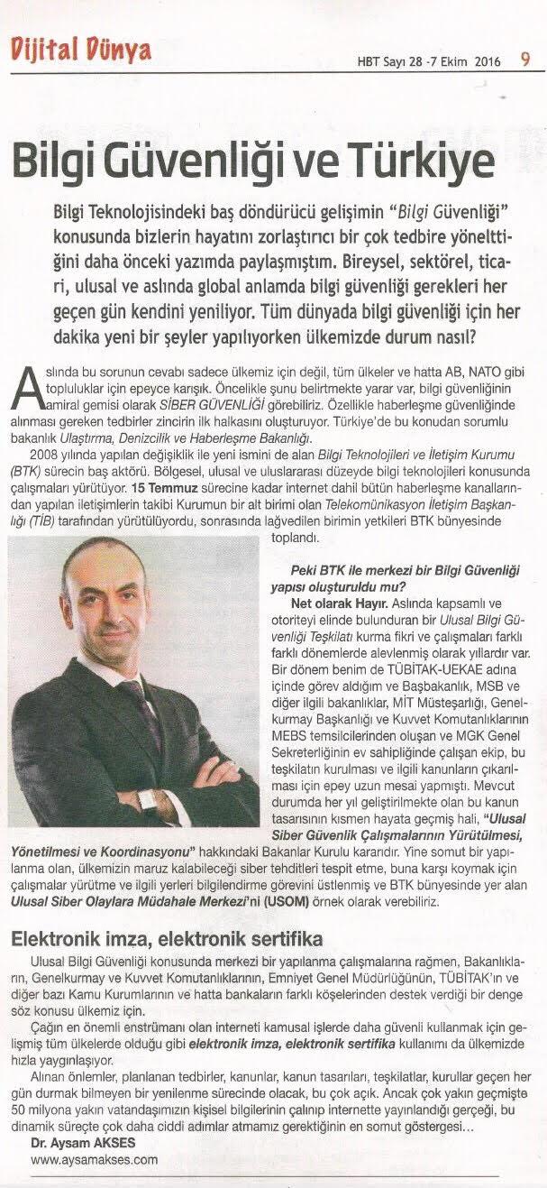 Türkiye bilgi güvenliği
